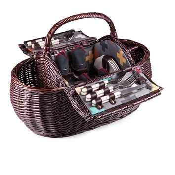 Gondola Picnic Basket with Pixel Pattern