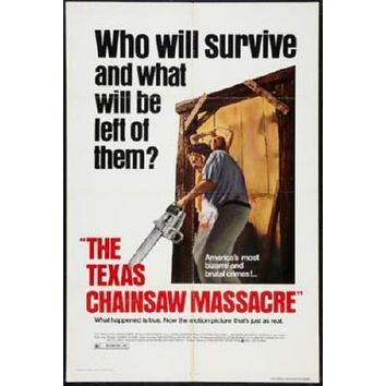 Texas Chainsaw Massacre Movie poster Metal Sign Wall Art 8in x 12in