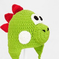 Yoshi Earflap Hat Super Mario Bros. Beanie, send size baby - adult | CutieHats - Accessories on ArtFire