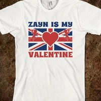 Zayn is My Valentine British Flag Valentines Day T Shirt