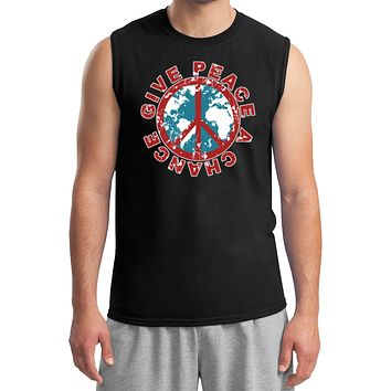 Peace T-shirt Give Peace a Chance Muscle Tee