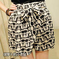 Short Skirt Skull Skirts Summer High Waist Skirts