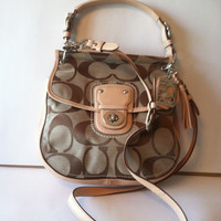 "COACH SIGNATURE WILLIS CROSSBODY BAG ""NWT"" RETAIL 278.00"
