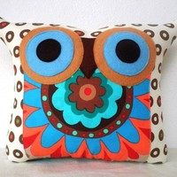 NEW/ Polyfil Stuffed Darling Owl Pillow by fongstudio on Etsy
