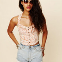Free People FP New Romantics Corset Tank at Free People Clothing Boutique