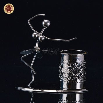 WR Iron Models Pen Holder Ballet Dancer Collectible Desk Accessory Personalized Christmas Ornaments Best Gift