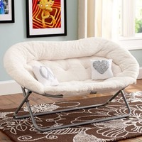 Sherpa Double Hang-A-Round Chair | PBteen