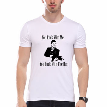 Design Men T shirt AL PACINO SCAR FACE TONY MONTANA Casual Top Tees