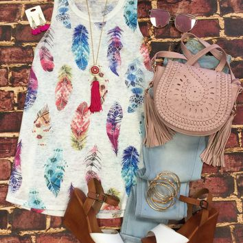 Bright Feather Tank Top