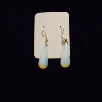 Natural Stone Drop Earrings