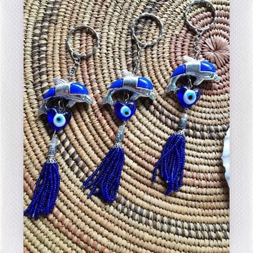 Evil Eye Key chain- Dolphin