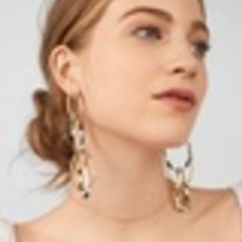 Juliza Resin Linked Hoop Earrings