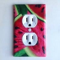 Watermelon Outlet Plate, decor
