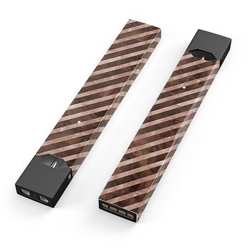 Skin Decal Kit for the Pax JUUL - Brown Watercolor Diagonal Stripes