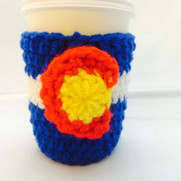 Colorado Flag Coffee Cozy