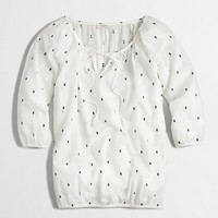 Factory textured dot peasant top - Cover-Ups - FactoryWomen's Swim & Cover-ups - J.Crew Factory