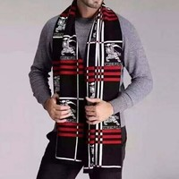 Burberry X VIDENG POLO Trending Unisex Print Wool Scarf Scarves Shawl Accessories I-YH-FTMPF