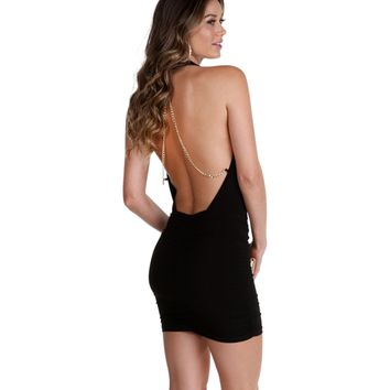 Sale- Black Trouble Maker Bodycon Dress