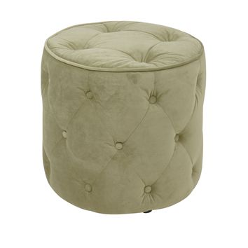 Office Star Spring Green Curves Tufted Round Ottoman