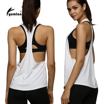 4 Colors Women Sports Shirt Breathable Sleeveless Sport Jersey Cool Loose Yoga Top Fitness Running Shirt Women Sport Top