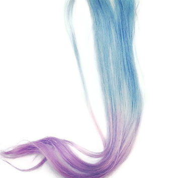 Pastel Ombre Hair Extensions blue to purple 18 by HairByAdriana
