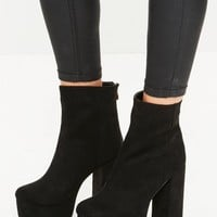 Missguided - Black Super Platform Heeled Boots