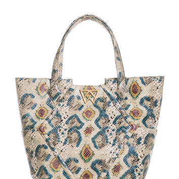 Paint the Town Tote in Psychedelic Multi Python