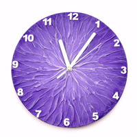 PURPLE WALL CLOCK, Lavender Home Decor, Purple Clock, Unique wall clock, Modern Wall clock,