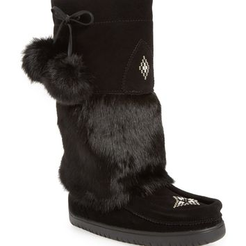 Manitobah Mukluks Snowy Owl Waterproof Genuine Fur Boot (Women) | Nordstrom