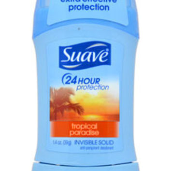 24 Hour Protection Tropical Paradise Invisible Solid Anti-Perspirant Deodorant Deodorant Stick Suave