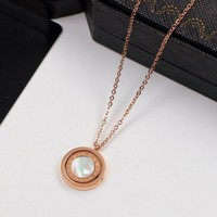 8DESS Bvlgari Women Fashion Rotated Chain Necklace