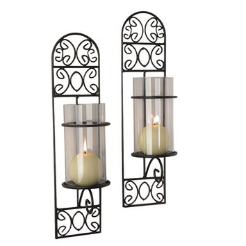 DanyaB Filigree Wall Sconce Candle Holder (Set of 2)