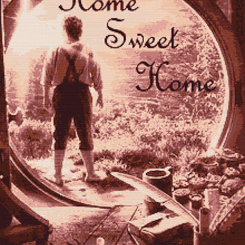 "Bilbo Baggins ,,Home Sweet Home"" Cross Stitch Pattern"