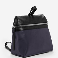 BLACK REFLECTIVE BACKPACK | KARA Handbags