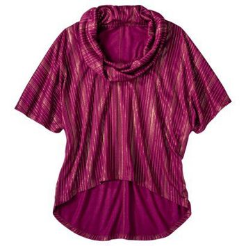 Mossimo® Women's Cowl Neck Poncho Top w/Foil Accent - Assorted Colors
