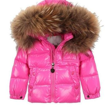 Moncler Children's wear winter pink Hooded down jacket/baby