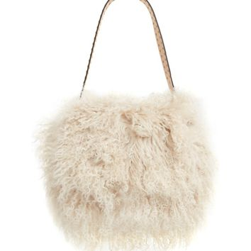 Tory Burch Sawyer Genuine Shearling Shoulder Bag | Nordstrom