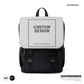 Personalized Unisex Casual Shoulder Backpack Custom School for 40badfc27aff4