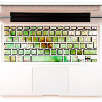 Shrek Dust with raspberry - Decal Keyboard Sticker for Macbook Mac Lenovo Asus Sony Acer Dell Samsung Toshiba Green Stardust Galaxy Universe