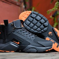 Acronym City MID Leather black/orange Size 40-45