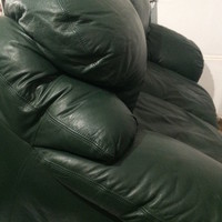 All Green Leather Sofa Set