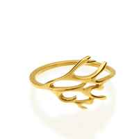 Arching Antlers Ring
