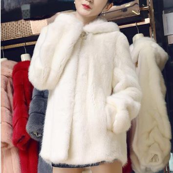 Clobee 2018 Winter Women's Faux Fur Jacket Artificial Fur Overcoat Furry Coat Femme Plus Size Warm Fake Fur Outwear  Z96