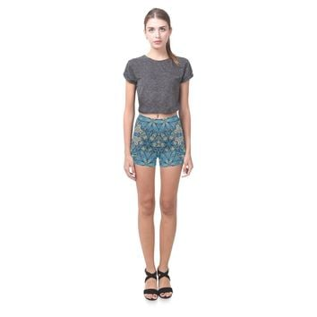 Embroidered Design 1 All-Over Skinny Shorts