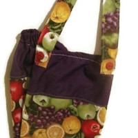 Purple Fruit Plastic Bag Holder Large Size (Custom Fabric Orders Welcome)