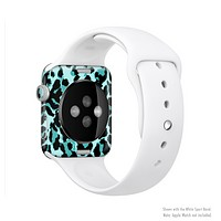 The Vector Hot Turquoise Cheetah Print Full-Body Skin Kit for the Apple Watch