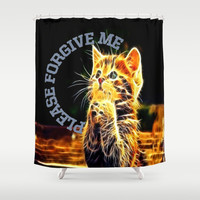 Please forgive me Shower Curtain by Store2u