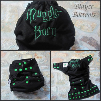 Muggle Born OS Pocket Diaper or Diaper Cover PLEASE READ Made To Order