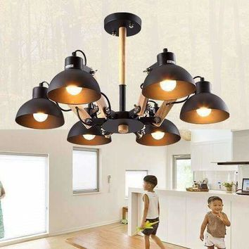 Creative American restaurant lights living room chandeliers solid wood ceiling lamps bedroom lights fashion lights WPL244