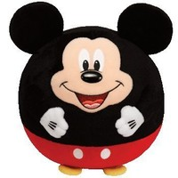 Ty Beanie Ballz Mickey Mouse Plush, Large